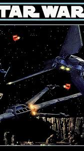 Star Wars Outer Space Vintage Tie Fighters B Wing Wallpaper
