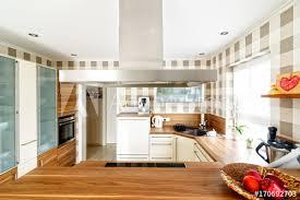offene küche mit essbereich fototapete