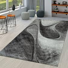 moderner kurzflor teppich wellen
