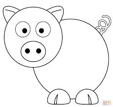 Cerdo Caricatura Para Colorear