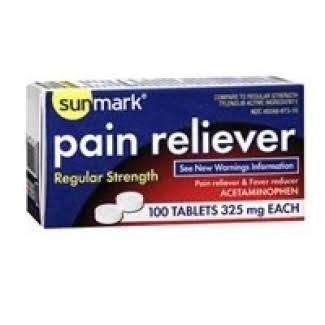 Sunmark Regular Strength Pain Reliever Tablets - x100