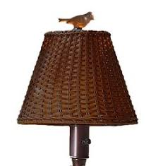 Allen Roth Outdoor Floor Lamp by Allen Roth 25 In H Brown Outdoor Table Lamp With Fabric Shade