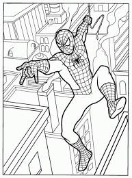 Spiderman Printable Coloring Pages In