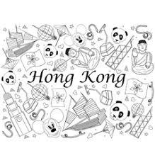 Hong Kong Coloring Book Vector Image