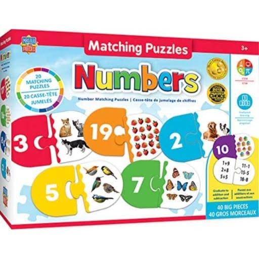 Masterpieces Educational - Numbers Matching Puzzle