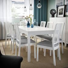 ekedalen tisch und 6 stühle weiß orrsta hellgrau ikea