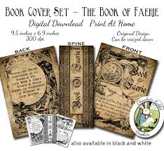 Childrens Halloween Books Witches by Witch Fairy Faerie Spell Book Cover Digital Download Halloween