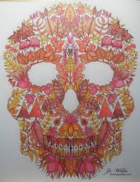 Anyway This Is The Skull From Johanna Basfords Enchanted Forest Book Coloured With Spectrum Noir Pencils