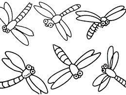 Dragonfly Coloring Pictures Simple Design Page Pages Download