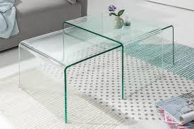 hochwertiges 2er set glas couchtisch fantome real de