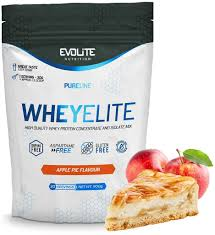evolite nutrition whey elite 900g apple pie protein whey isolate building