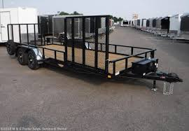 2017 HH 85x20 Rail Side Landscape Trailer