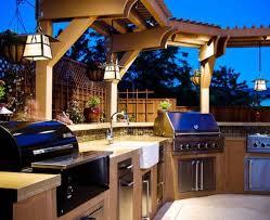 kitchen room design luxury modern outdoor kitchen with hardwood