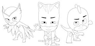 Pj Masks Coloring Pages Mask And Sheets