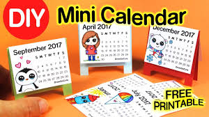DIY How To Make Mini Calendar Step By EASY 2017