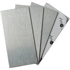 Metal Adhesive Backsplash Tiles by 100 Pieces Peel U0026 Stick Aluminum Brushed Backsplash Tiles 3