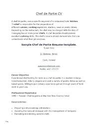 Sample Cook Resume Chef Cover Letter Awesome Samples For Example 3 Cosy Pastry