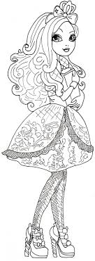 Free Printable Ever After High Coloring Pages Apple White With