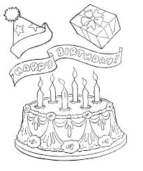 Happy Birthday Cake Coloring Pages Printable
