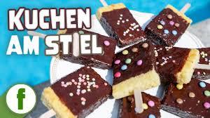 kuchen am stiel mit schoko glasur einfacher rührkuchen für