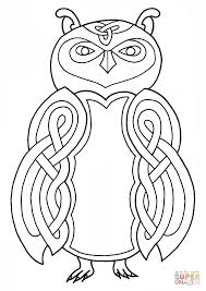 Click The Celtic Owl Design Coloring Pages