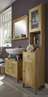 badmöbel set kiefer gelaugt geölt badezimmer möbel holz massiv 3teilig