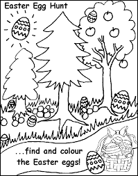 Easter Egg Hunt Free Coloring Pages For Kids
