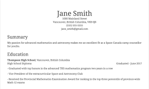 Modern Resume Sample With List Of Education And Academic Achievements