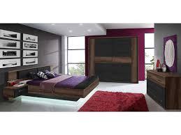 conforama chambre adulte lit 160x200 cm 2 chevets suspendus led dolce cottage vente