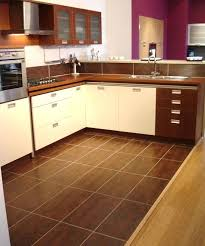 Magnificent Tiles Astounding Floor For Kitchen Laminate Designs Adorable Tan Tile Dark Cabinets With