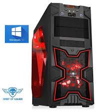 ordinateur de bureau en wifi pc gamer x fighters a4 6300 8go ram 1000go wifi windows 10