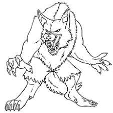 Werewolf Free Printable Monster Frankenstein Coloring Pages