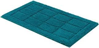 schöner wohnen kollektion santorin badteppich badematte badvorleger design kachel türkis oeko tex 100 zertifiziert 55 x 65 cm