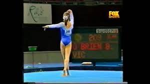 Dominique Moceanu Floor Routine by Brooke O U0027brien 2000 Australian Nationals Floor Youtube