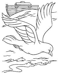 Bible Noah Dove Coloring Page