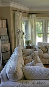 Rustic Farmhouse Paint Curtains In Bay Window Quilt Rack