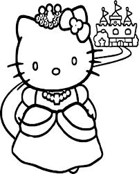 Coloriage Hello Kitty Princesse Dessin à Imprimer Sur COLORIAGES Info