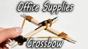 how to make office supplies crossbow youtube