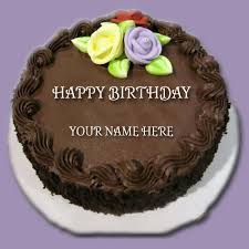 Write Name on Chocolate Cake For Your Friend