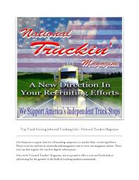 Trucking Jobs - National Truckin Magazine By ... The Driverless Truck Is Coming And Its Going To Automate Tg Stegall Trucking Co Marten Transport Truck Driving Jobs Dicated Runs Oil Field Truckdrivingjobscom Learn About Types Of Alltruckjobscom Cordell Transportation Dayton Oh Disadvantages Becoming A Driver Halliburton Driving Jobs Find With Traing Local Driver Nj Kentucky Drivejbhuntcom Regional At Jb Hunt