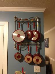 Pots And Pans Hanging Rack With Cool Pot And Pan Hanger From