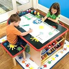 Toddler Art Desk And Chair by Childs Art Desk Toddler Art Desk Easel By Wooden Drawing Table