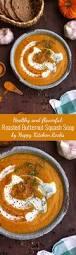 Pumpkin Butternut Squash Soup Vegan by Roasted Butternut Squash Soup U2022 Happy Kitchen Rocks