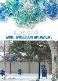 Diy Winter Windowscape Kid S Craft Crafts Unleashed Kids