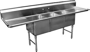 amazon com allstrong allst se18183d 3 compartment sink with 18