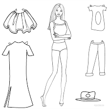 Barbie Paper Doll Coloring Pages