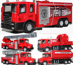 100 Fire Trucks Toys Alloy Truck Model Toy Aerial Ladder Truck Toy Water Tanker 5 Different Kinds With Light For Christmas Kid Gifts Collecting Canada 2019 From