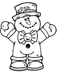 Click To See Printable Version Of Hugging Snowman Coloring Page