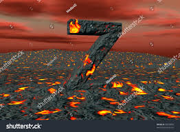 3d font alphabet letter z lava stock illustration 33570859
