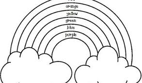 Exclusive Ideas Rainbow Coloring Page With Color Words Printable Good